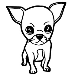 dogs coloring page vector image vector image