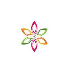 Flowers design logo template icon vector