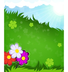 Flowers in the meadow vector image