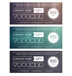 Gift voucher template with clean and modern patter vector image vector image