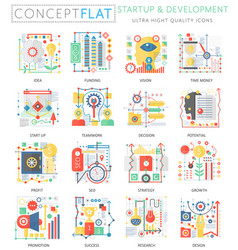 infographics mini concept startup and development vector image