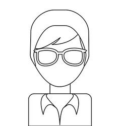 avatar drawn vector image