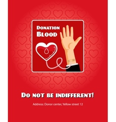 Blood donation poster vector image vector image