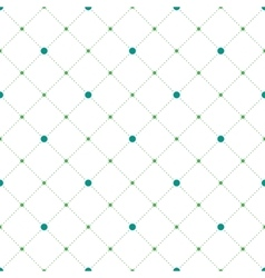 Circles and diamonds seamless pattern vector image vector image
