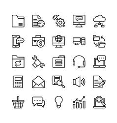 Digital marketing icons 4 vector