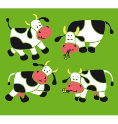 Four cows vector image vector image