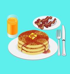 Pancakes for breakfast vector image