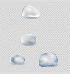 realistic water drops isolated set vector image