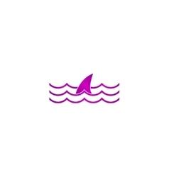 shark fin icon vector image