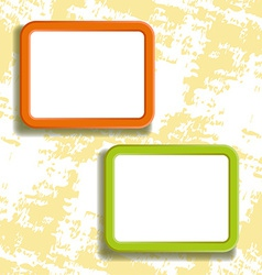 two square frames on the wall vector image vector image