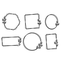 0015 hand drawn floral frame vector