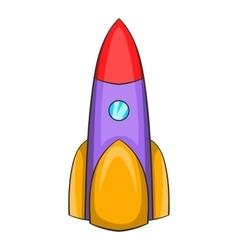 Ballistic rocket icon cartoon style vector