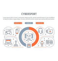banner cybersport vector image