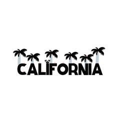 banner with lettering california in scandinavian vector image