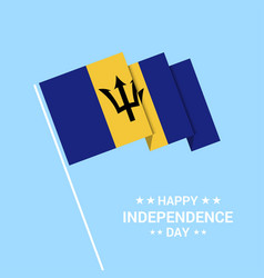 Barbados independence day typographic design with vector