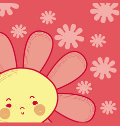 beautiful flower cartoon vector image
