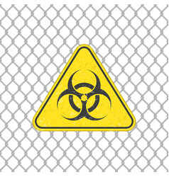 biohazard sign on fence vector image