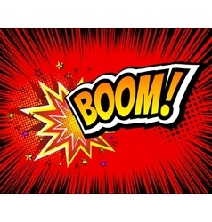Boom Retro Comic Speech Bubble Cartoon vector image