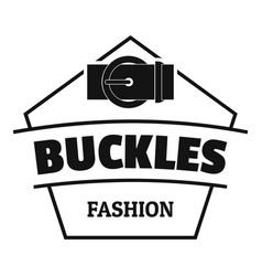 Buckle clothing logo simple black style vector