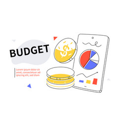 budget - modern colorful flat design style web vector image