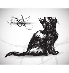 cat sketch vector image