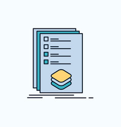 Categories check list listing mark flat icon vector