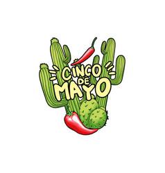 cinco de mayo hand drawn festive vector image