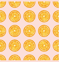 Citrus fruit slices hand drawn seamless vector
