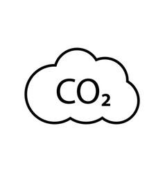 co2 emissions line icon carbon gas cloud vector image
