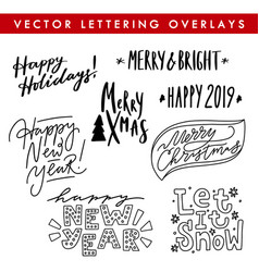 collection of hand drawn lettering quote vector image