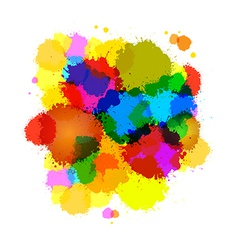Colorful Abstract Splashes Background vector