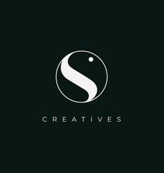 creative letter s icon logo design template vector image