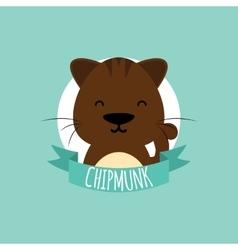 Cute Cartoon chipmunk vector image