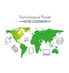 Earth planet concept design vector