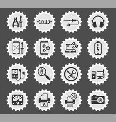 Electronics repair icon set vector