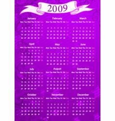european pink floral calendar vector image
