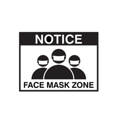 face mask signage template isolated vector image