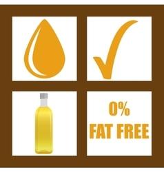 Fat free design vector