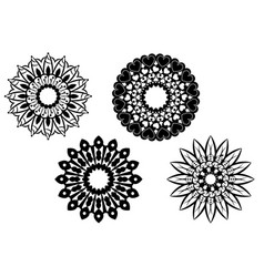 Four different mandalas vector