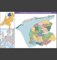 Friesland is a province netherlands vector