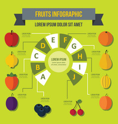 Fruit infographic concept flat style vector