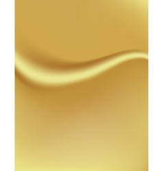 Golden background with a fold silk tissue vector