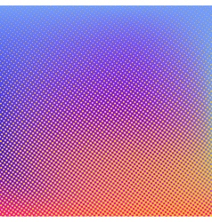 Halftone background Red blue violet orange vector image vector image