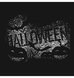 Halloween abstract logo Halloween party isolated vector image