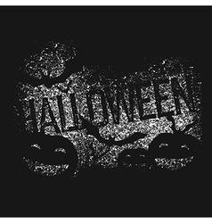 Halloween abstract logo halloween party isolated vector