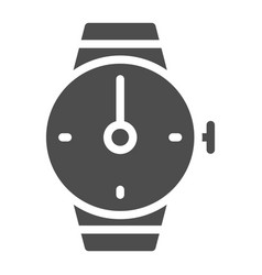 hand watch solid icon wrist watch vector image