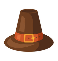 Happy thanksgiving pilgrim hat vector