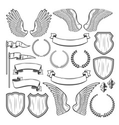Heraldic element for medieval badge crest design vector