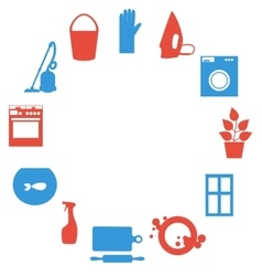 House work icons Flat design vector image