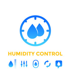 Humidity control icons set vector
